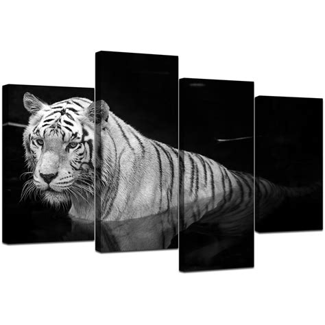 white tiger bedroom black and white tiger canvas wall art for bedroom