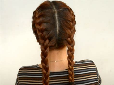 2 braids hairstyle pics how to do double french braids with pictures wikihow