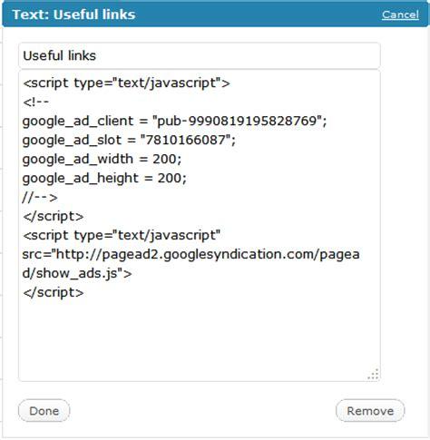 adsense js code add google adsense to wordpress without plugins rudy