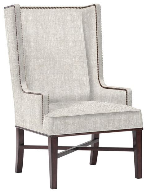 Contemporary Wingback Chair Design Ideas Jacqueline Hostess Wing Back Occasional Dining Arm Chair Transitional Dining Chairs By