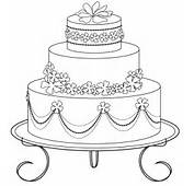 Wedding Cake Coloring Pages – Here's Of A Lovely