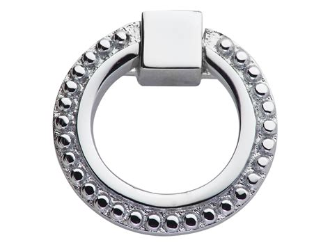 polished chrome cabinet ring pulls 2 inch solid brass beaded drawer ring pull polished chrome