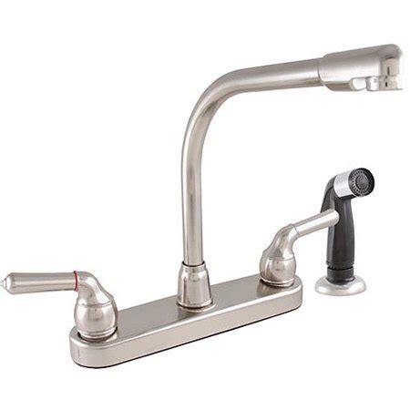 high rise kitchen faucet exquisite high rise spout dual tulip handle kitchen faucet