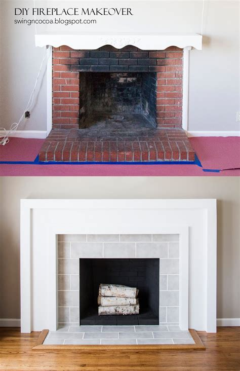 easy fireplace makeover 4 great ways to give your fireplace a makeover using tiles