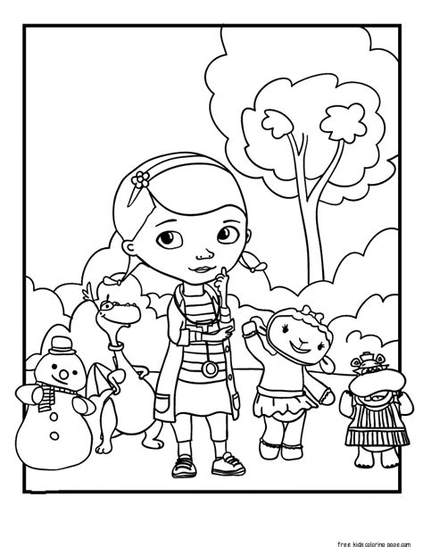 Coloring Page Doc Mcstuffins by Printable Doc Mcstuffins Coloring Pages For Kidsfree