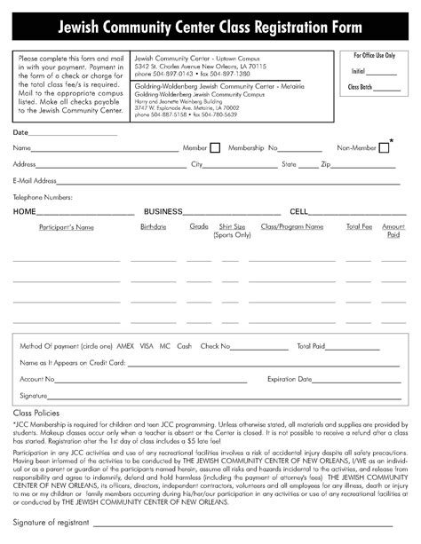 class registration template 28 images of boxing application template infovia net