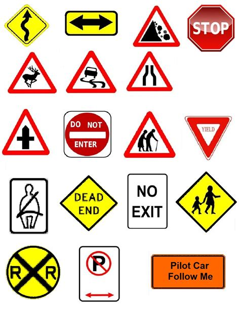 printable european road signs road signs road signs pinterest clip art