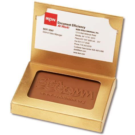 Custom Business Gift Cards - custom chocolate cookie in business card gift box corporate gifts awards