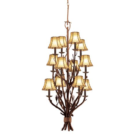 Chandeliers For Foyer Rustic Chandeliers Ponderosa Foyer Chandelier With 12 Lights Black Forest Decor