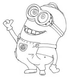 drawing of dave the minion in despicable me coloring page