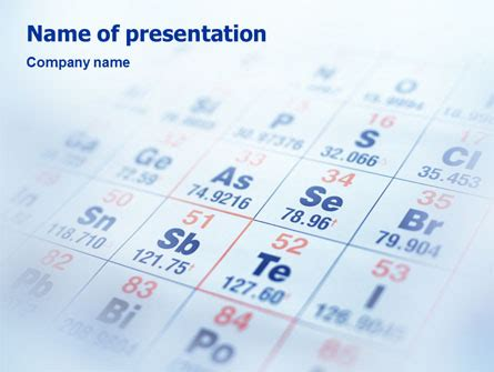 periodic table powerpoint template backgrounds 01861