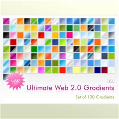 photoshop gradient styles web 2 0 gradients v3 photoshop styles and gradients