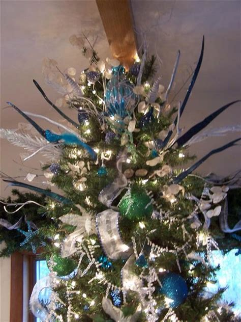 teal christmas tree christmas trees decor pinterest