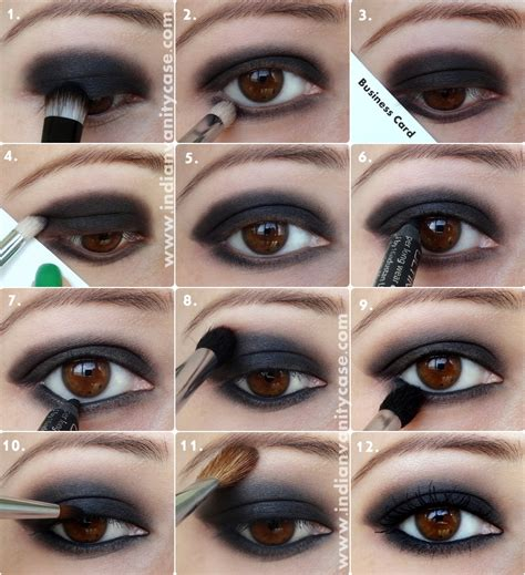 eyeshadow tutorial dark indian vanity case black smokey eyes tutorial