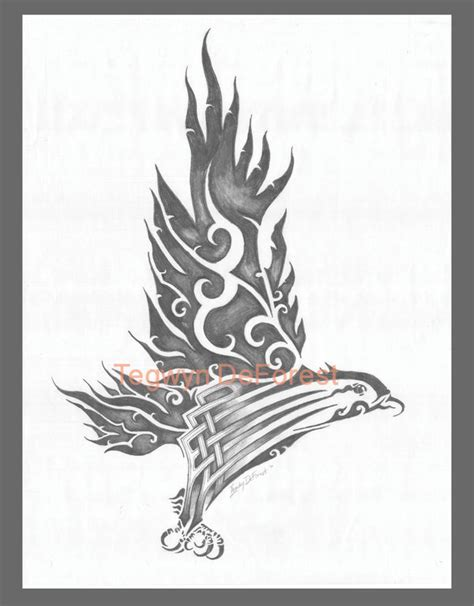 stylized tattoo designs hawk design stylized tribal by tegwyndeforest