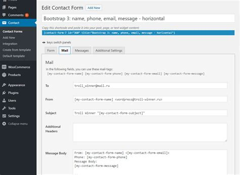Contact Form 7 Fast Templates By Troll Winner Codecanyon Contact Form 7 Templates