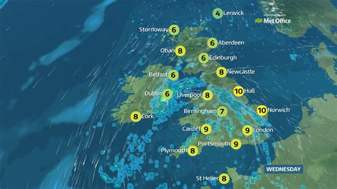Showers Weather by Weather And Wintry Showers Itv News