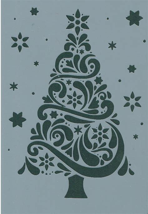 christmas tree 18 in stencil 17 best ideas about stencil on template patterns and primitive