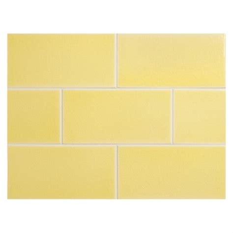 yellow subway tile vermeere ceramic tile yellow crackle 3 quot x 6 quot subway tile
