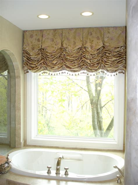 bathroom window valance style and elegance 187 susan s designs