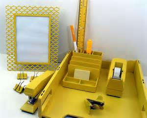 Desk Set Accessories Yellow Desk Accessory Set
