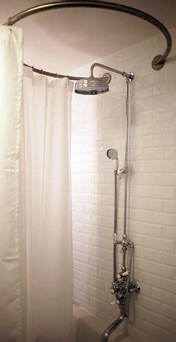 barre de rideau de baignoire baignoire sabot et barre de rideau de circulaire