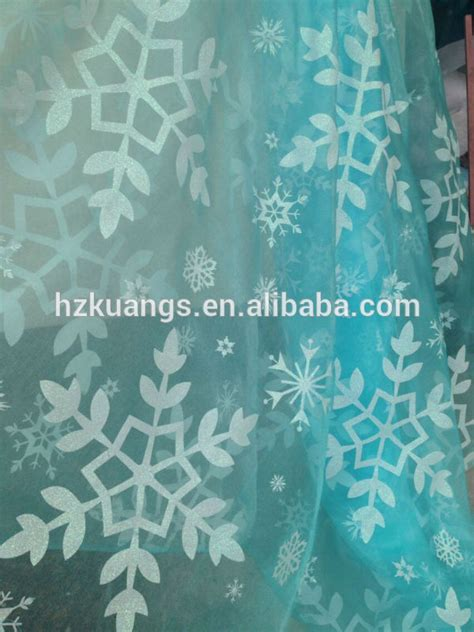 printable organza fabric snowflake print organza fabric blue in fabric from home