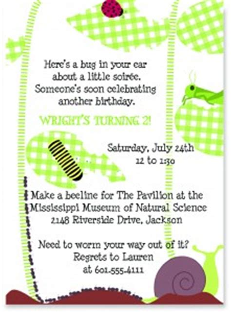 Bug Themed Party Invitations Pink Peppermint The Blog Bug Invitation Template