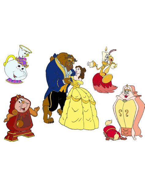 servizio da the la e la bestia disegno di i personaggi de la e la bestia a colori