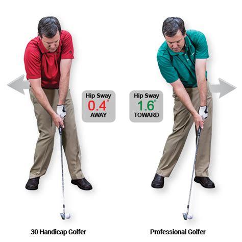 swaying golf swing swingtru motion study golftec