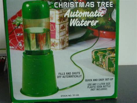 christmas tree watering present tree automatic waterer oak bay