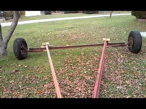Shed Moving Dollies by Shed Moving Axle Completed