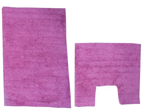 bathroom mat set 2 piece cotton bath mat pedestal bathroom rug set pink ebay