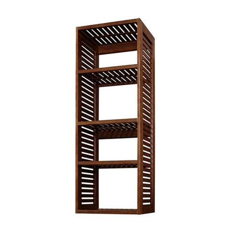 allen roth ventilated wood tower shelf kit from