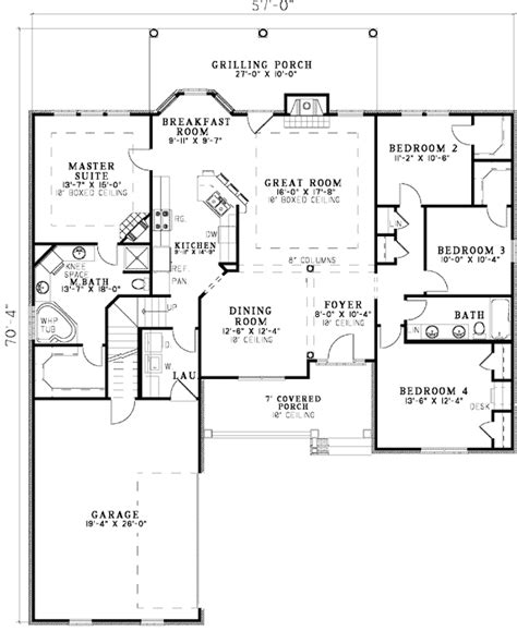 ranch house plans with open floor plan open floor plan ranch plans home deco plans