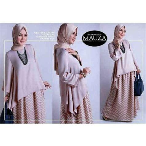 Mauza Set Baju Atasan Pashmina Busana Muslim Dress Maxi baju muslimah mauza