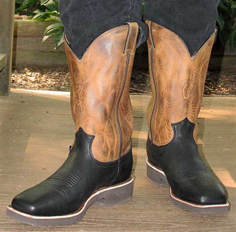 comfortable cowboy boots for walking chippewa black pitstop cowboy boots