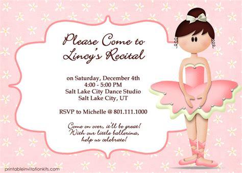 templates for ballerina invitations ballet invitation barbie invitations free printable ideas