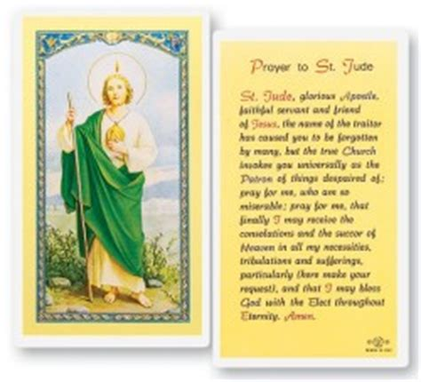 laminated prayer cards templates view all st jude prayer card catholic faith store