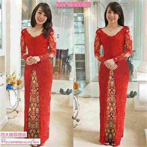Kebaya Gaun Merah Pensiun Salon busana kebaya merah cantik modern model terbaru murah