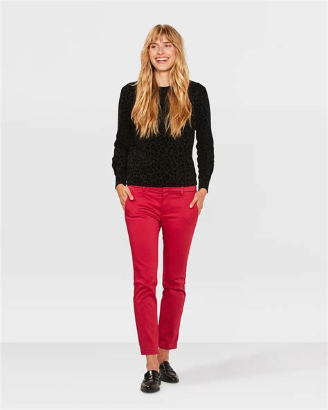 Slim Fit Cropped slim fit high stretch cropped chino 79746267 we