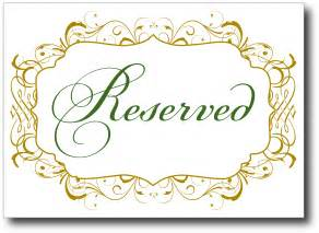 Reserved Cards For Tables Templates by Printable Reserved Table Signs My Wallpaper