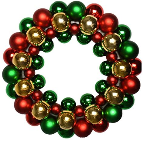 multicoloured bauble christmas wreath decoration large