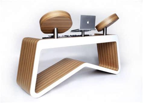 wooden dj table modern dj table dj setup at fundjstuff