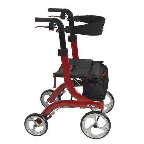 drive nitro rollator amazon com drive medical nitro euro style red rollator