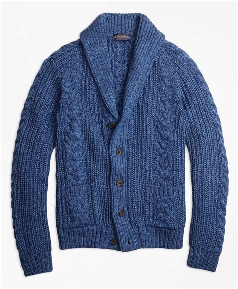 cable knit shawl brothers supima 174 cotton marl cable knit shawl