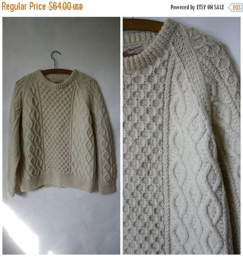 scottish cable knit sweaters cable knit sweater fishermans sweater vintage wool