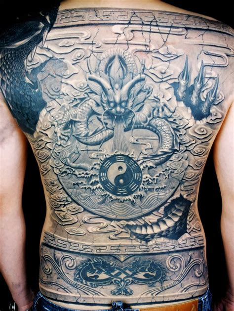 asian back piece tattoos scene360