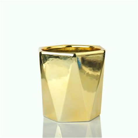 Candle Jars Wholesale Wholesale Ceramic Candle Vessels Golden Candle Jars