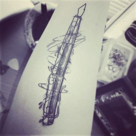 tattoo pen ink my fountain pen tattoo done by donald patacsil work in